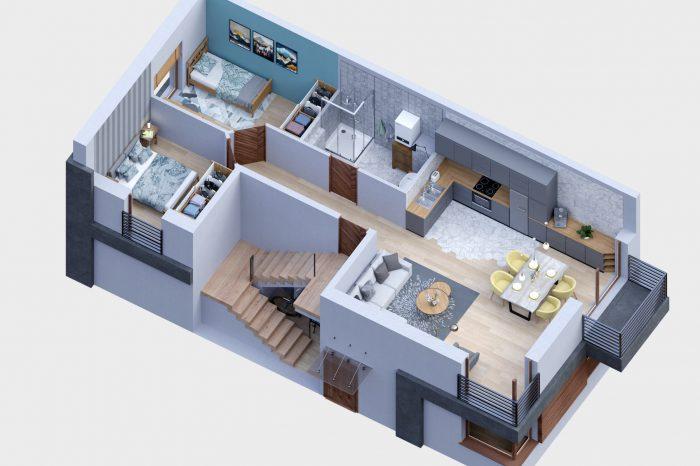 wizualizacje architektoniczne, wizualizacje, wizualizacje 3D, 3D, architektura, wizualizacja domu, wizualizacje osiedla, osiedle, wizualizacje deweloperskie, wizualizacja bliźniak