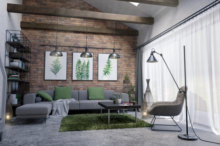 Projekt loft, loft, krzesłem, projekty wnętrz, projekty salonu, projekt salonu, projekt kuchni, projekt wnętrz, nowoczesne projekty wnętrz, architekt wnętrz